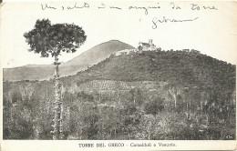 TORRE DEL GRECO - CAMALDOLI E VESUVIO - FORMATO PICCOLO (retro Indiviso) - VIAGGIATA 1905 - (rif. Z81) - Torre Del Greco