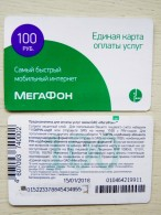 Phone Card From Russia Megafon 100rbl.