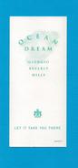Cartes Parfumées Carte OCEAN DREAM De  GIORGIO BERVERLY HILLS - Modern (from 1961)