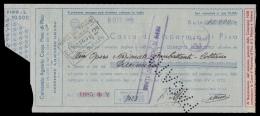 Assegno: Consorzio Agrario Coop. Prov. Pisa (Gestione Ammassi Grano) A Favore: Opera Naz. Combattenti Di Coltano - 1938 - Agricoltura