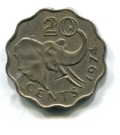 1974 Swaziland 20 Cent Coin - Swaziland
