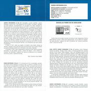 CENTENAIRE JOURNAUX - EL DIA ISLAS CANARIAS - DOCUMENT INSTRUCTIF DE L´ÉMISSION DE TIMBRE ESPAGNE - España