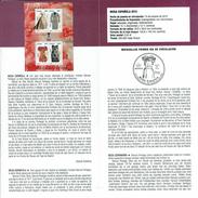 FASHION ESPAGNOLE - MANUEL PERTEGAZ - DOCUMENT INSTRUCTIF DE L´ÉMISSION DE TIMBRE ESPAGNE - España