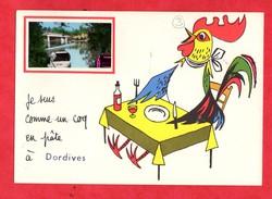 45 Loiret Dordives Carte Humoristique Avec Petite Photo De Dordives Ajoutée Coq - Dordives