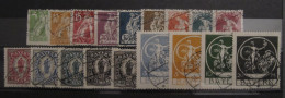 1920, Bayern Bavaria Abschiedsausgabe Final Issue, Mi. 178-195, O Gst Used, Value 250,- - Bayern