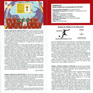 SPORTS - ESPAGNE CHAMPION COUPE DU MONDE DE FOOTBALL FIFA 2010  - DOCUMENT INSTRUCTIF DE L´ÉMISSION DE TIMBRE ESPAGNE - España