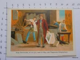 "CHROMO ""Aloys Senefelder Créa L'impression Lithographique""-A.SOLFERINO-ROUEN - Other"