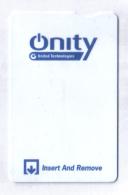 HOTEL KEY CARD   (  QNITY  ) - Hotel Keycards