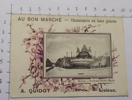 """CHROMO-""""Rouen-Fontaine Sainte Marie""""-AU BON MARCHé-Dos Vierge - Au Bon Marché"""