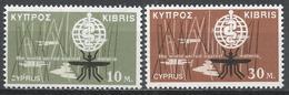Cyprus 1962. Scott #204-5 (MNH) Malaria, Eradication Emblem * Complet Set - Chypre (République)
