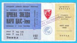 FCRED STAR : CARL ZEISS JENA Germany - 1979. UEFA CUP Football Soccer Match Ticket Billet Fussball Deutschland Futbol - Eintrittskarten