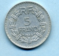 1949     5 Francs Type LAVRILLIER ALUMINIUM - France