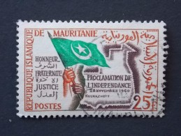 Timbre MAURITANIE Y&T 154 (o)  PROCLAMATION DE L'INDEPENDANCE 1960 - Mauritania (1960-...)