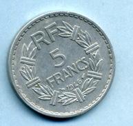 1946    5 Francs Type LAVRILLIER ALUMINIUM - France