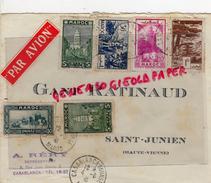 87 - SAINT JUNIEN - MAROC-CASABLANCA- ENVELOPPE AVION- GANTERIE RATINAUD-GANTS- A. RERY -1941 - Maroc (1956-...)