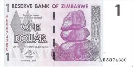Zimbabwe - Pick 65 - 1 Dollar 2007 - Unc - Zimbabwe
