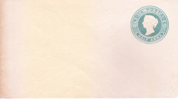 BRITISH INDIA - 1886 QUEEN VICTORIA HALF ANNA GREEN POSTAL STATIONERY ENVELOPE - UNUSED / MINT - India (...-1947)