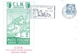 Italia 1994 Annullo Speciale Su Cartoncino Nettuno 50° Anniversario Dello Sbarco A Nettuno E Anzio - Guerre Mondiale (Seconde)