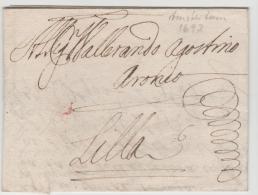 NLC039 / - NIEDERLANDE - Amsterdam 1693 Nach Lilla (Frankreich) Mit Komplettem Textinhalt. - ...-1852 Vorläufer