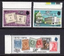FIJI - 1970 STAMP CENTENARY SET (3V) FINE MNH ** SG 432-434 - Fiji (...-1970)
