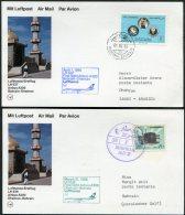 1986 Lufthansa First Flight Postcards(2) Bahrain / Dhahran Saudi Arabia - Bahrain (1965-...)