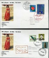 1987 Lufthansa First Flight Postcards(2) Tokyo / Seoul, South Korea - Corréo Aéreo