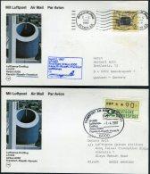 1987 Lufthansa First Flight (2) Riyadh, Saudi Arabia / Frankfurt Germany - Saudi Arabia