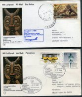 1985 Lufthansa First Flight (2) Kinshasa Zaire / Frankfurt Germany - Zaire