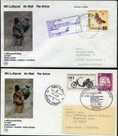 1984 Lufthansa First Flight (2) Addis Ababa, Ethiopia / Frankfurt Germany - Ethiopia