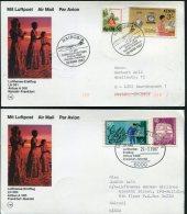 1987 Lufthansa First Flight (2) Nairobi Kenya / Frankfurt Germany - Kenya (1963-...)