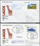 1983 Lufthansa First Flight (2) Lagos Nigeria / Frankfurt Germany