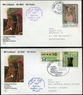 1987 Lufthansa First Flight (2) Monastir Tunisia / Frankfurt Germany - Tunisia
