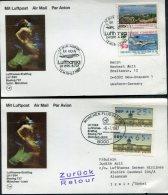 1987 Lufthansa First Flight (2) Izmir Turkey / Munich, Germany - 1921-... Republic