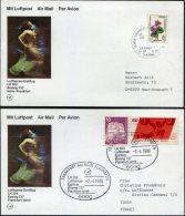 1986 Lufthansa First Flight (2) Izmir Turkey / Frankfurt Germany - 1921-... Republic