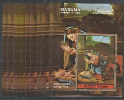 10x MANAMA - Art - Painting - Correggio -  Nativites - CTO - Religión