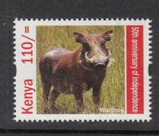 2013 Kenya Warthog Pumba  (from Sheet Of 25 Independence Stamps) - Much Cheaper Than Buying Sheet!!! - Game