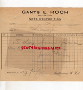 87 - SAINT JUNIEN -  NOTE EXPEDITION GANTS GANTERIE E. ROCH - 1944 - Blotters