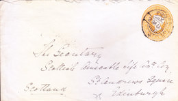 BRITISH INDIA - 1894 QUEEN VICTORIA 2A 6PIES POSTAL STATIONERY ENVELOPE -  POONA TO SCOTLAND VIA BOMBAY FOREIGN - India (...-1947)