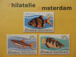 Indonesia 1983, FAUNA FISH FISCHE VISSEN POISSONS PECES PESCI: Mi 1116-18, ** - Fishes