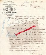 58 - NEVERS - FACTURE MANUSCRITE J. LEVEQUE -78 RUE COMMERCE- GANTERIE GANTS -A M. DECOUTY SAINT JUNIEN-1922 - Buvards, Protège-cahiers Illustrés