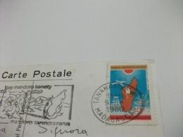 STORIA POSTALE FRANCOBOLLO COMMEMORATIVO MALAGASY SOUVENIR DE TANANARIVE  VEDUTINE - Madagascar