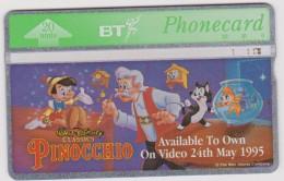 Royaume  Uni :  Disney  Pinocchio  Avec  Gepetto , Chat , Poisson 1995? - Non Classés