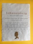 2160 -  Suisse Valais Johannisberg De Chamoson Jean Crittin - Etiquettes