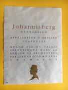 2160 -  Suisse Valais Johannisberg De Chamoson Jean Crittin - Sonstige