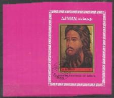 10x AJMAN - Art - Painting - Russian Paintings Of Saints - CTO - Imperf. - Religión