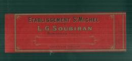 étiquette  Générique Soubiran -modele Parfiné  - Chromo Litho  XIXeime 23x8cm  LUXE - - Fruits Et Légumes