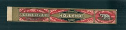 étiquette - Fromage Hollande SOUBIRAN - -modele Parfiné  - Chromo Litho  XIXeime 25x3,5cm  TTB  - - Fromage