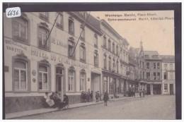 MONTAIGU - MARCHE PLACE ALBERT ET HOTEL DU CYGNE - TB - Belgique