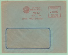 Fr9  EMA   MG   Banque Populaire Metz  28.12.61 - Storia Postale