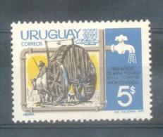 URUGUAY AÑO 1971 - CENTESIMO ANIVERSARIO DE LA RED DE AGUA POTABLE DE MONTEVIDEO YVERT NR. 812 MNH TBE - Uruguay